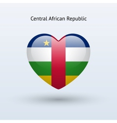 Love central african republic symbol heart flag vector