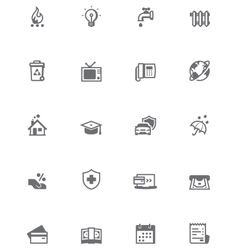 Paying bills icon set vector