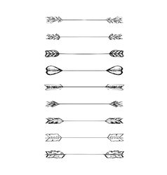 Retro scribble hand-drawn dividers set vector