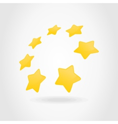 Gold star circle vector