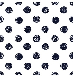 Hand drawn seamless indigo irregular sletchy vector
