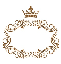Elegant royal frame vector