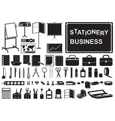 Icons business stationery vector