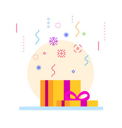 abstract open gift box vector image