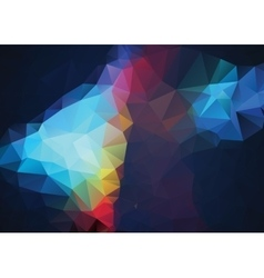 Abstract retro TriangleColor Background vector image vector image