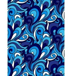 Abstract seamless swirl background blue vector