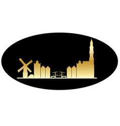 Amsterdam gold black vector