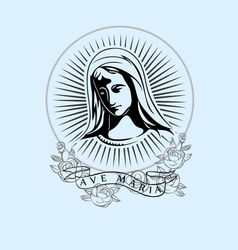 Ave Maria vector image vector image