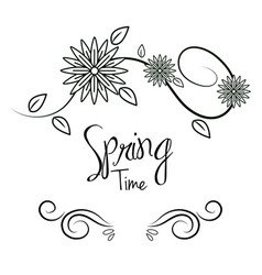 beautiful spring tree icon vector image vector image