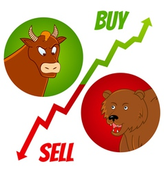 Bull and bear1 vector
