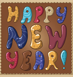 Card happy new year vector