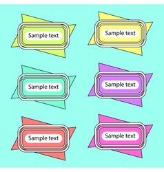 Colored Banners 2 vector image vector image