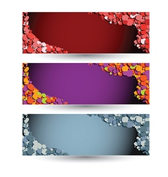 colored horizontal banners vector image vector image