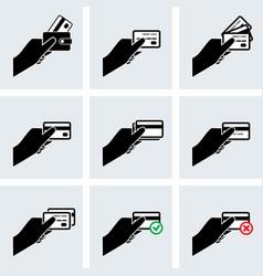 Credit card icon set vector