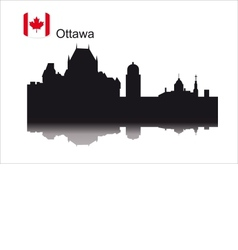 Detailed silhouette city of Ottawa vector image vector image
