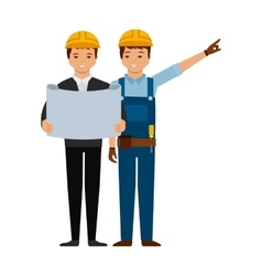Engineer and construction worker icon vector