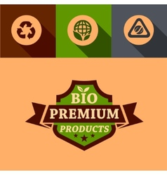 Flat bio premium design elements vector