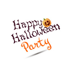 Halloween party poster with pumpkins isolated vector