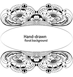 Hand-drawn abstract floral background vector image vector image