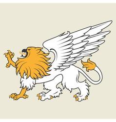 Heraldic griffin8 vector