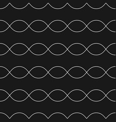 horizontal wavy lines seamless pattern vector image