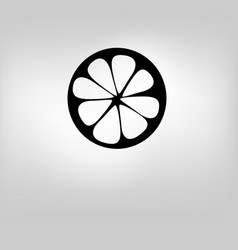 icon lemon vector image