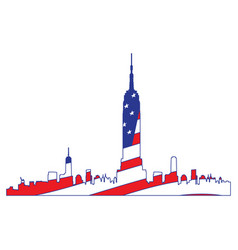 isolated cityscape of new york vector image