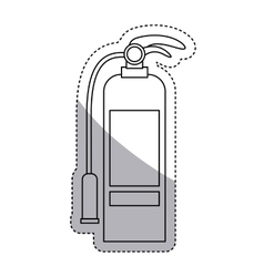Isolated extinguisher of emergency design vector