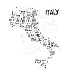 Italian Map vector image vector image