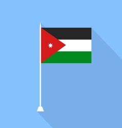 Jordan Flag vector image vector image