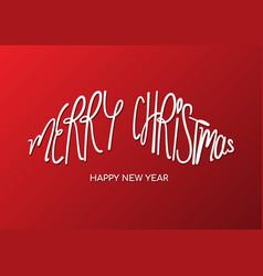 Merry christmas beard typography vector