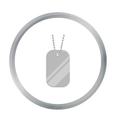 Metal tags hanging on a chain icon cartoon Single vector image