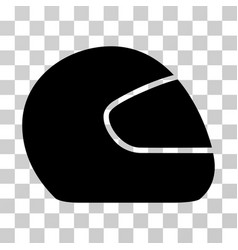 Motorcycle helmet icon vector