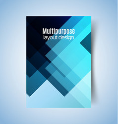 multipurpose layout design 9 vector image vector image