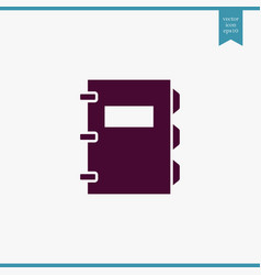 note book icon simple vector image vector image
