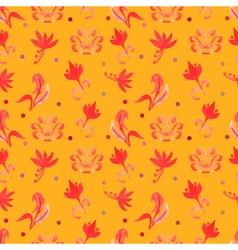 Orange Retro seamless pattern vector image vector image