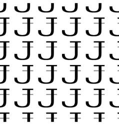 Pattern letter j vector