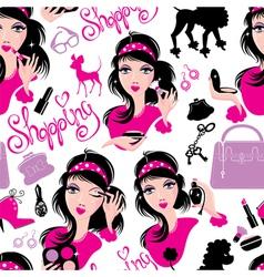 Seamless pattern for fashion Design glamor lovely vector image vector image