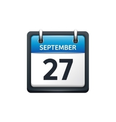 September 27 calendar icon vector