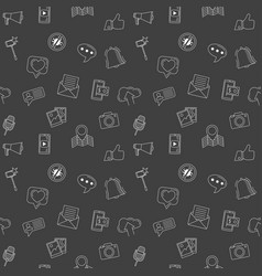 social media icons seamless background internet vector image vector image