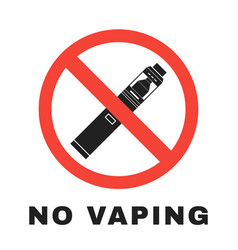 Vaporizers prohibited sign design vector