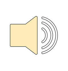 volume sound symbol vector image