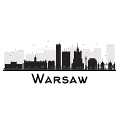 Warsaw silhouette vector image vector image