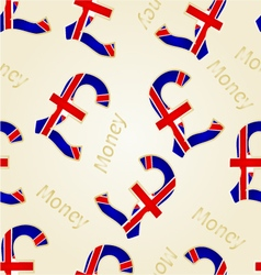 Seamless texture money- the british pound vector