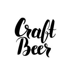 Craft beer handwritten card vector
