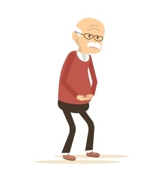 Elderly man sick vector