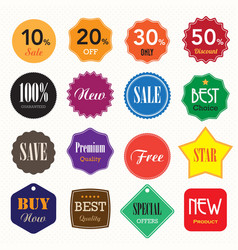 Set of business vintage badges and labels vector