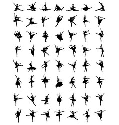 Silhouettes of ballerinas vector