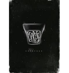 Espresso cup chalk vector