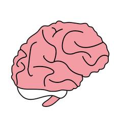 brain cartoon silhouette vector image